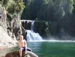 Highlight for Album: Camping at Lower Falls along the Lewis River